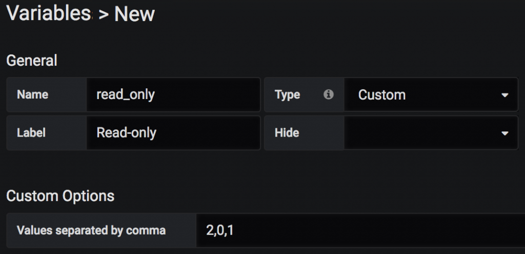 Grafana Variable - READ-ONLY